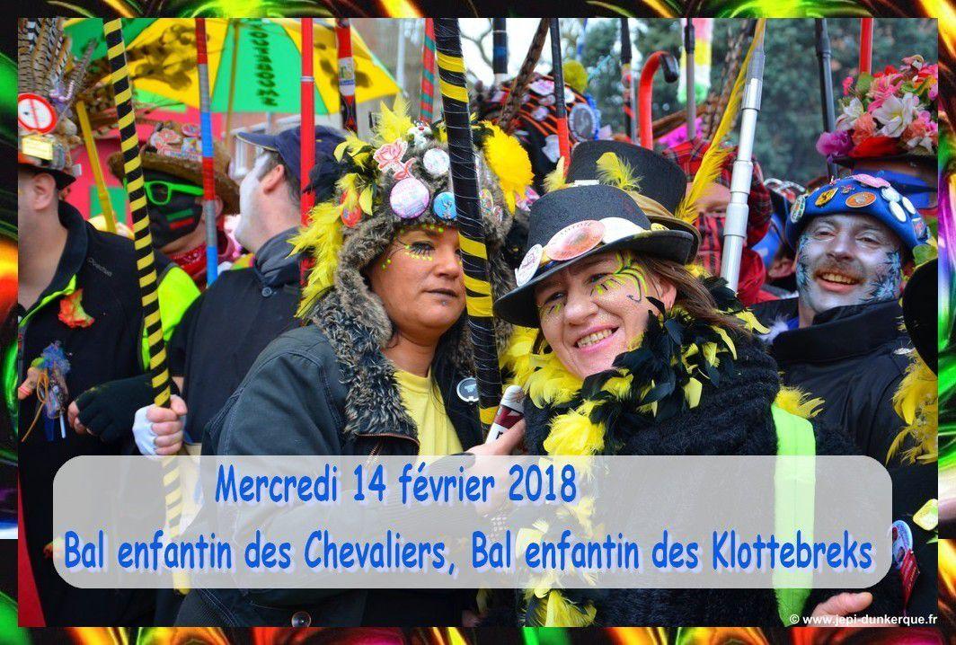 Dates du Carnaval  (et des bals) de Dunkerque 2018 .