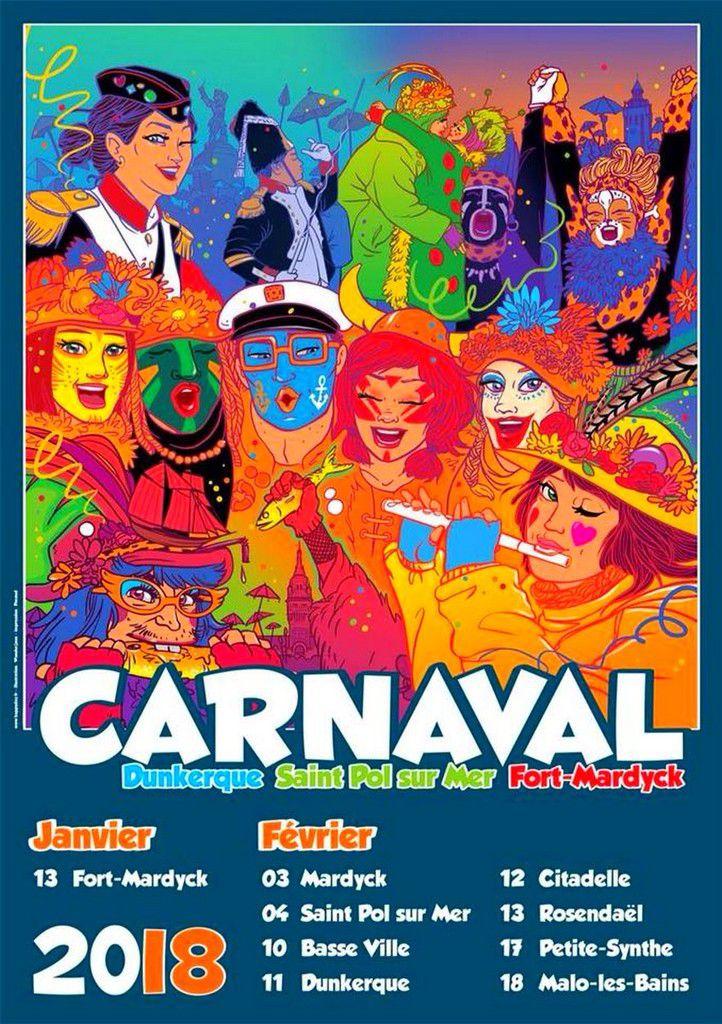 Affiche du Carnaval Dunkerque 2018