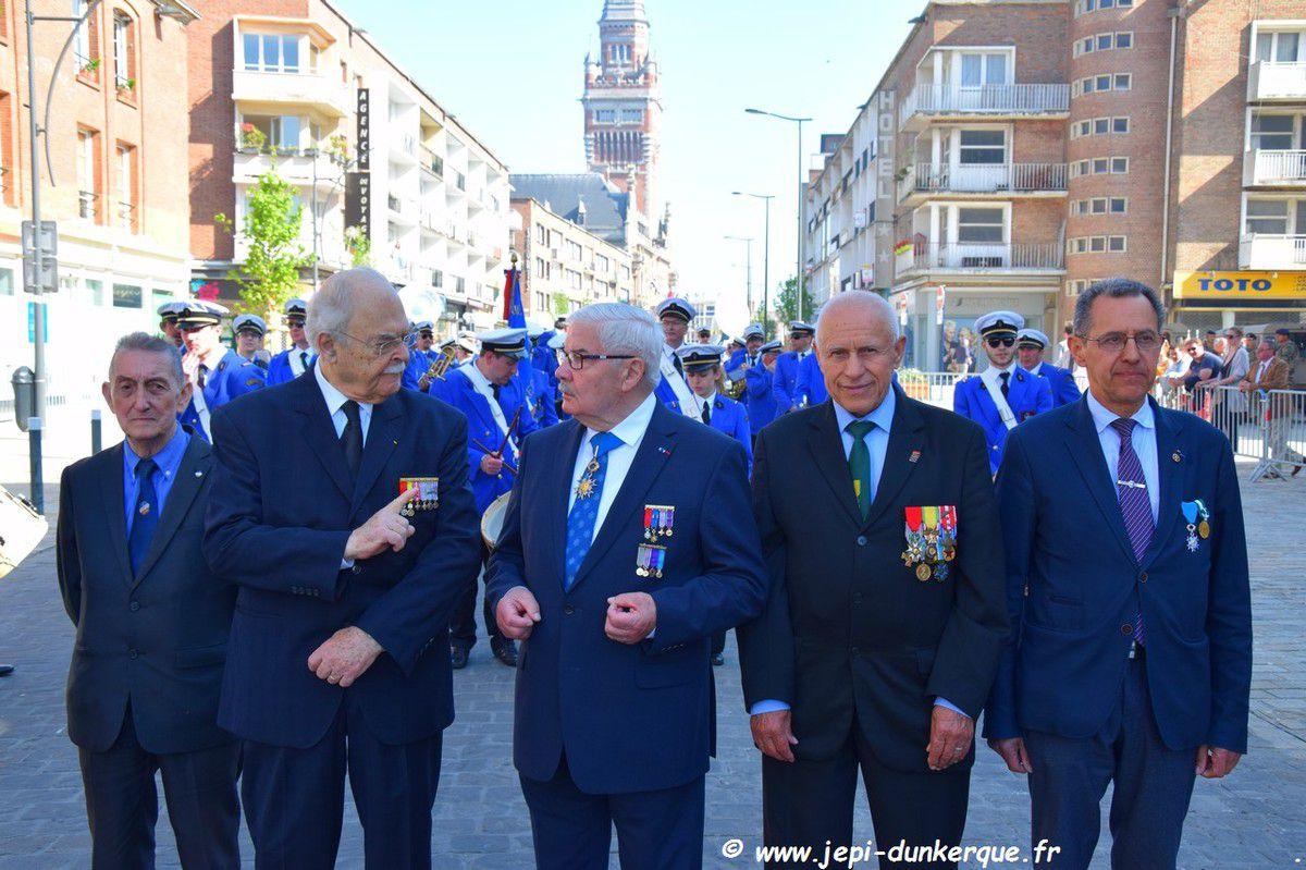 Cérémonie de la Victoire du 08 Mai 1945 - Dunkerque 2018 .