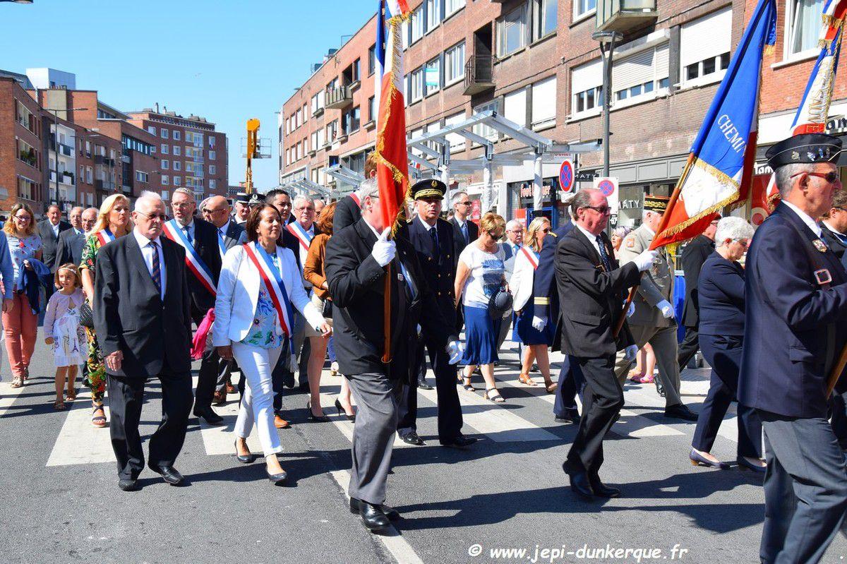 Cérémonie du 14 Juillet - Dunkerque 2018 .