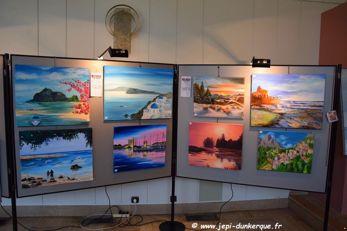Exposition Peinture et Sculpture - ADIAP - Dunkerque Septembre 2018 .