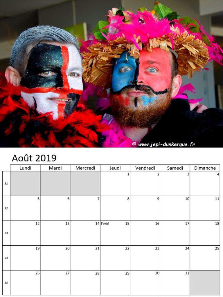 Calendrier 2019 - Duos de Carnavaleux .