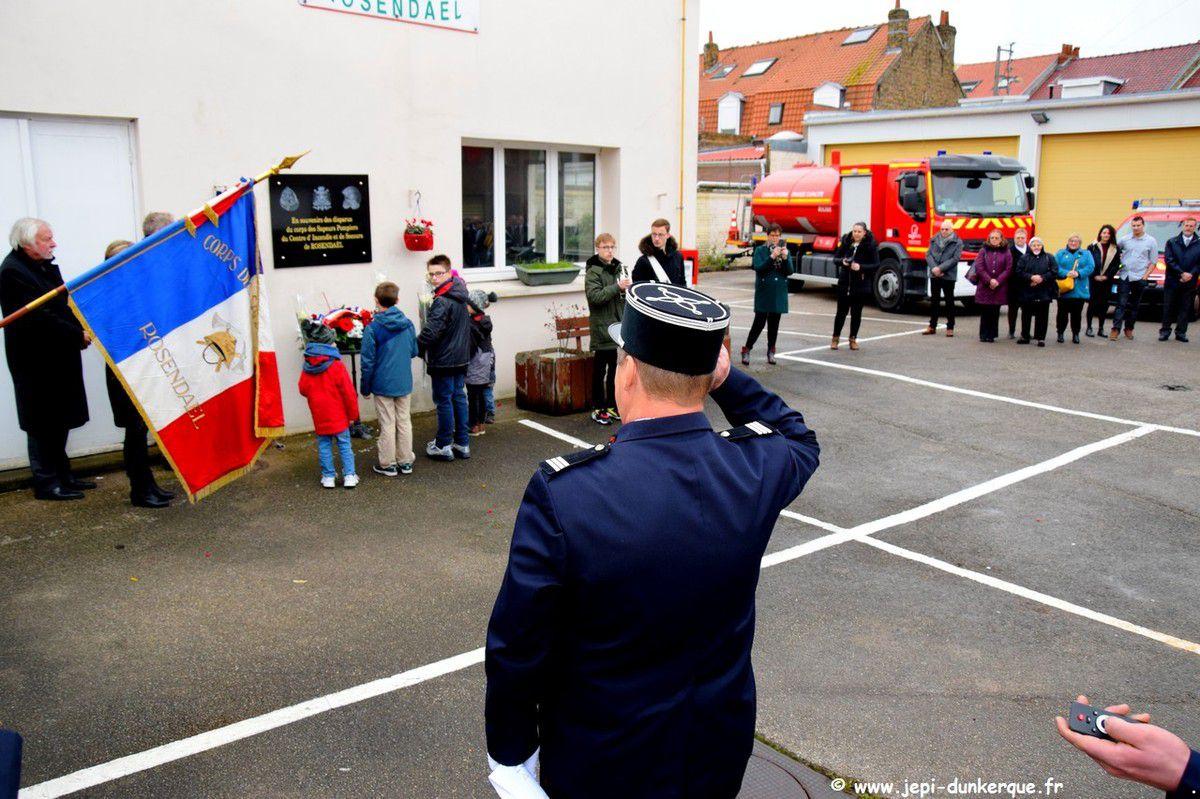 Cérémonie Sapeurs Pompiers Volontaires de Rosendaël 02 12 2018