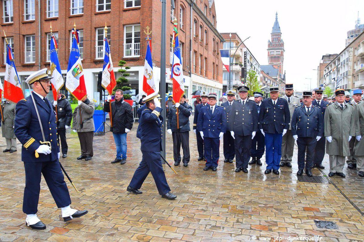 Cérémonie de la Victoire du 8 Mai 1945 - Dunkerque 2019 .