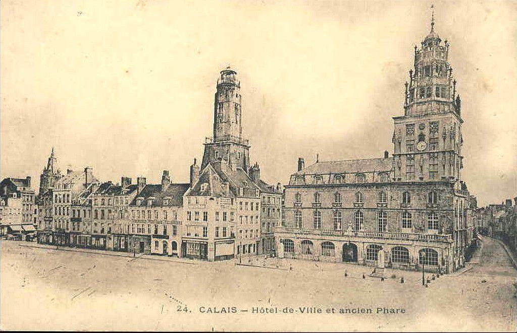 (A4) Cartes Postales Anciennes Calais Beffroi et Tour du Guet .