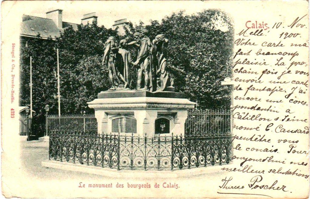 (A7) Cartes Postales Anciennes Calais Les 6 Bourgeois