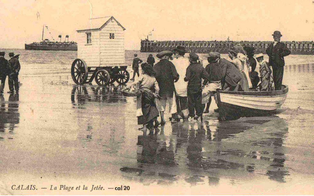 (A14) Cartes Postales Anciennes Calais La Plage