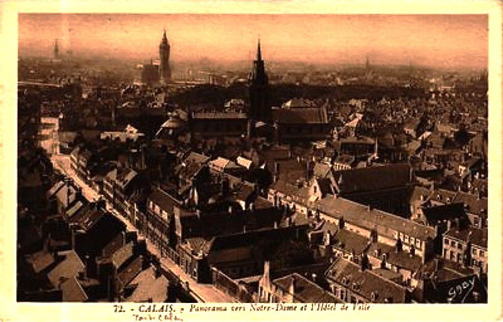 (A20) Cartes Postales Anciennes Calais Vues Aériennes