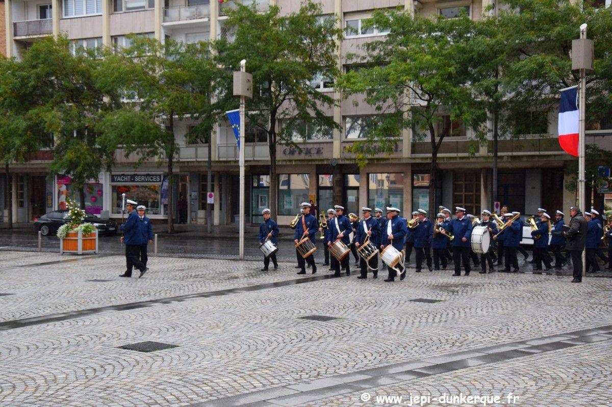 """Centenaire de la remise à la ville de DUNKERQUE de la """"Distinguished Service Cross"""" et de la """"Légion d'Honneur """" 09/2019"""