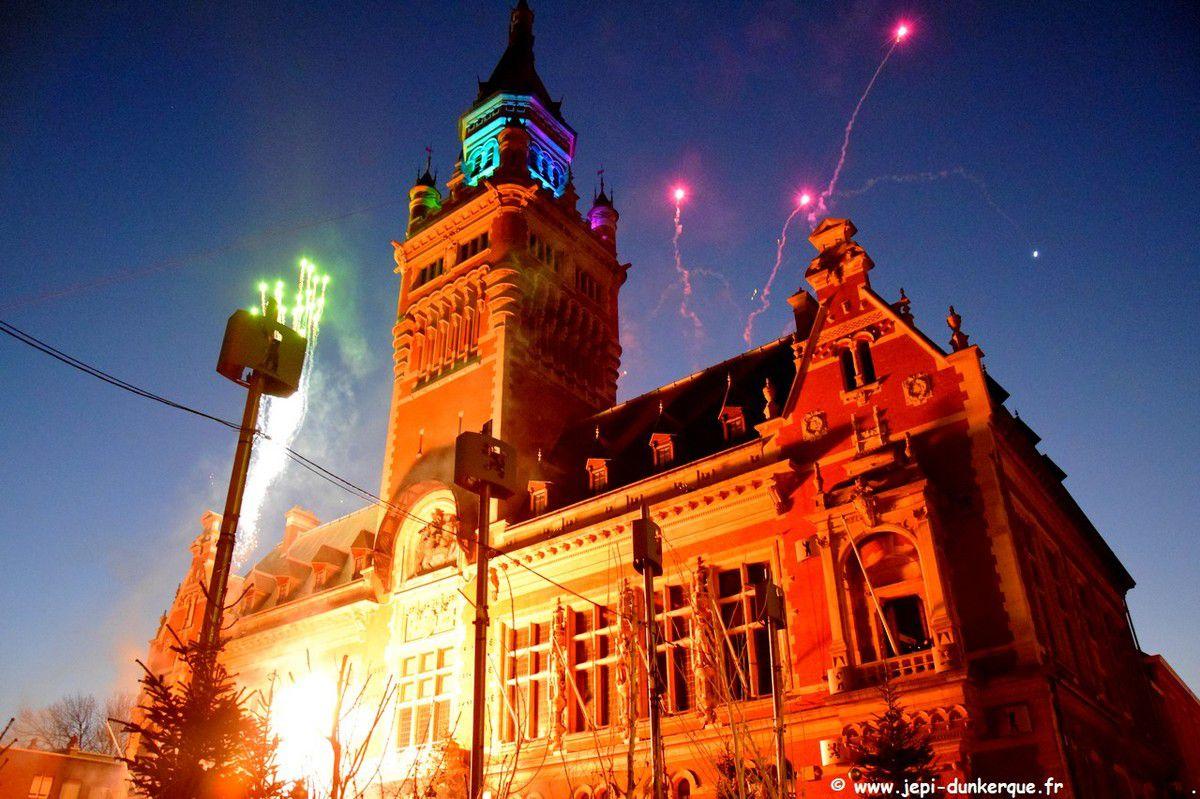 Dunkerque la Féerique - l'arrivée du Père Noël - Dunkerque 2019