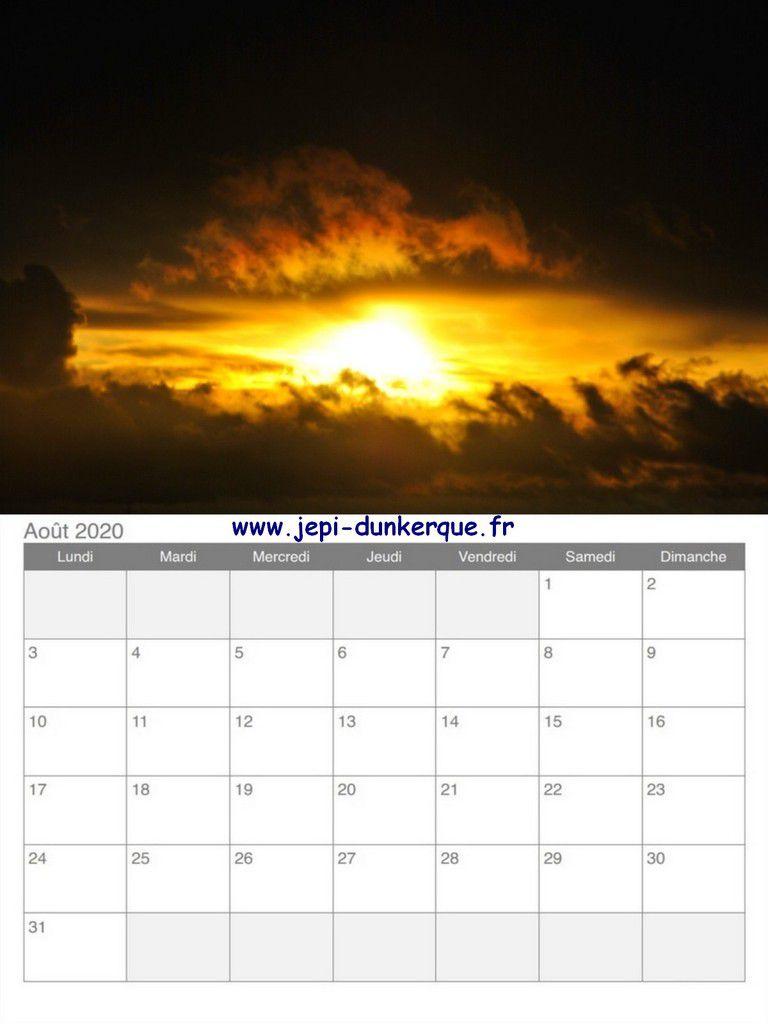 Calendrier 2020 - Ciel de Flandre.