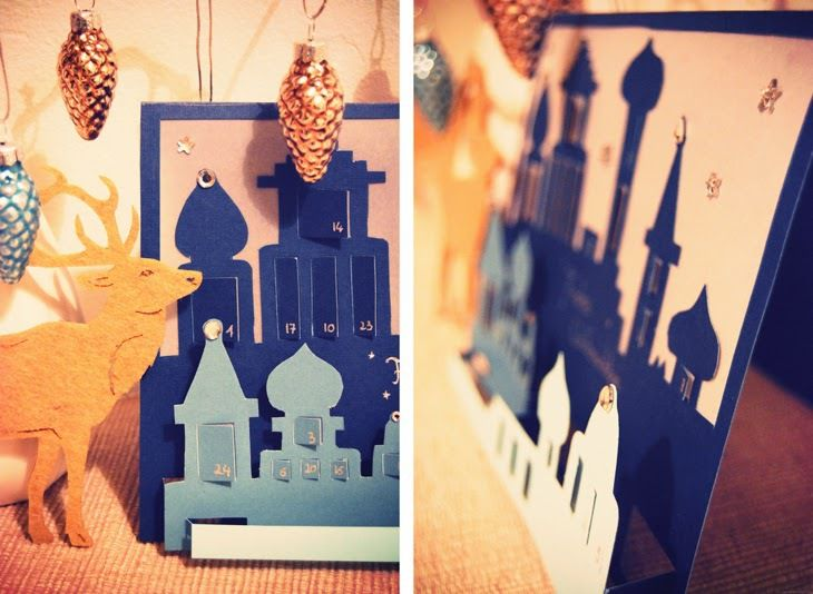 DIY un calendrier de l'avent pop up