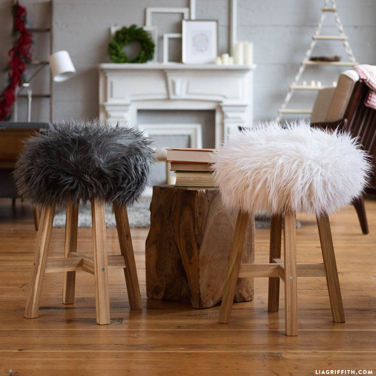 diy des tabouret en fausse fourrure dans mon bocal. Black Bedroom Furniture Sets. Home Design Ideas