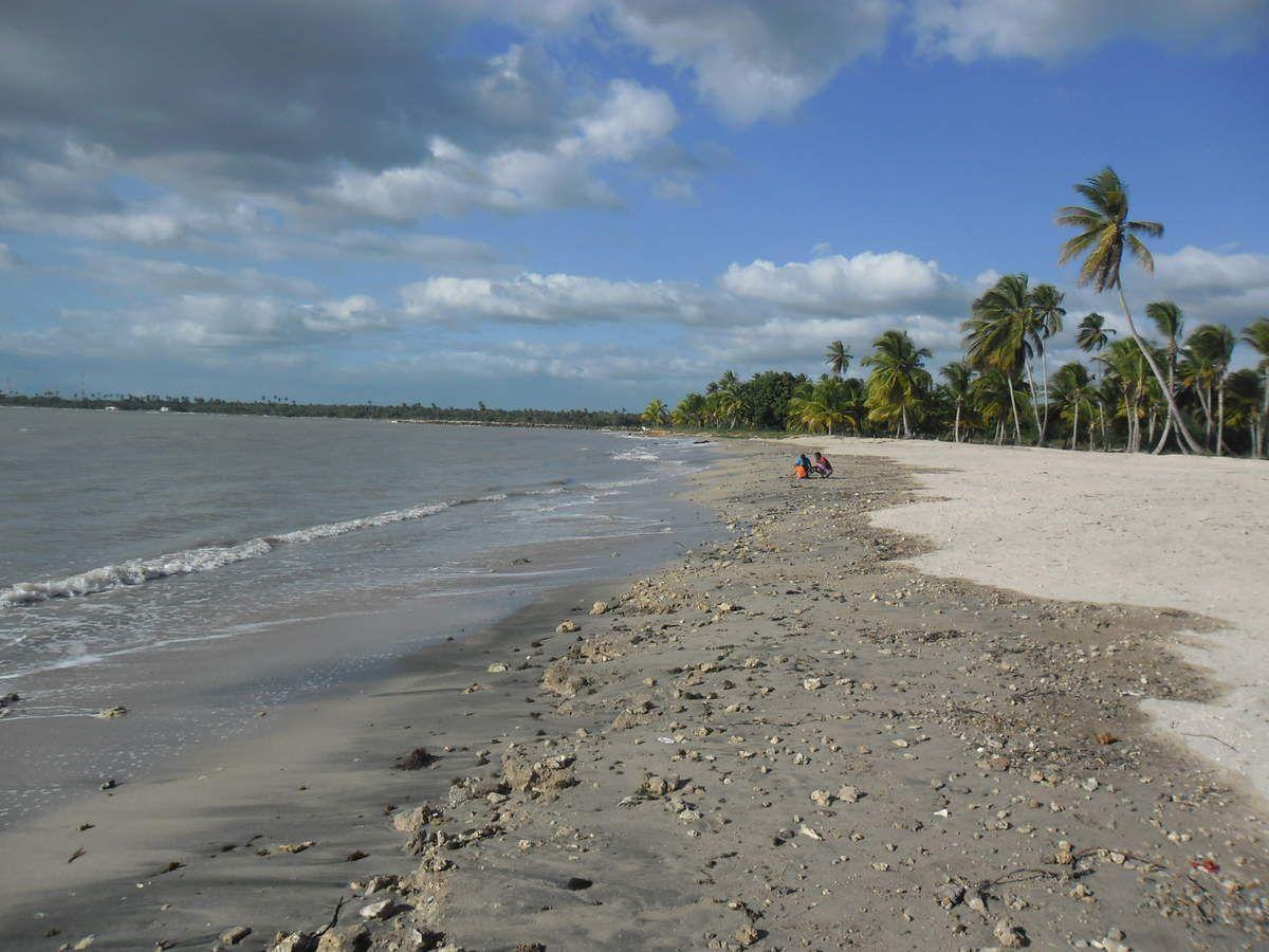 La plage abandonnée...