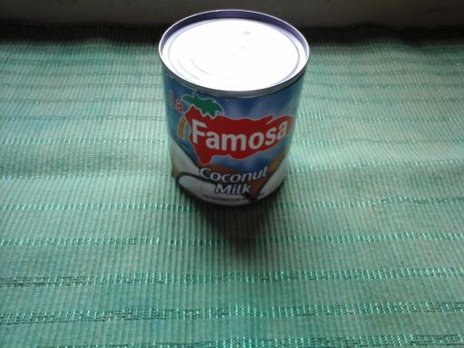 Boite de lait de coco