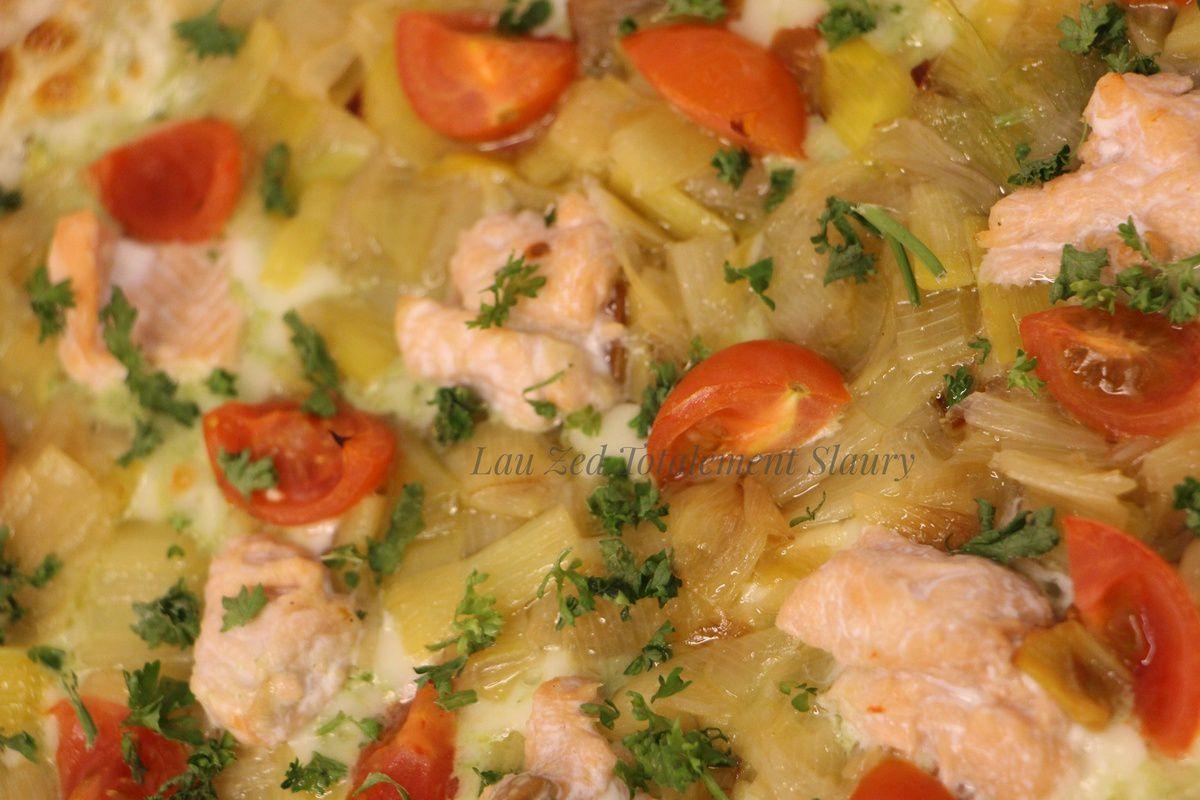 Pizza Pesto e Salmone