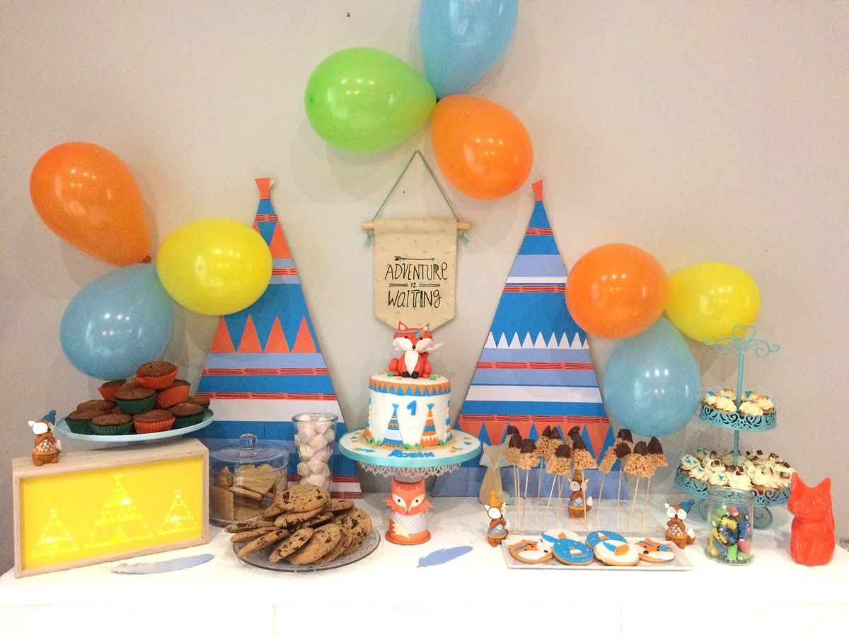 Mini cupcakes Renard/Tipi & Sweet Table
