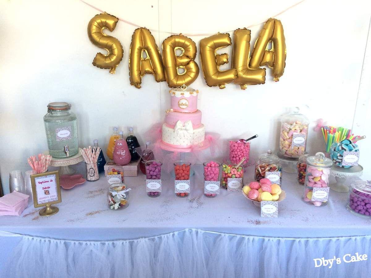 Gâteau Baptême , thème princesse