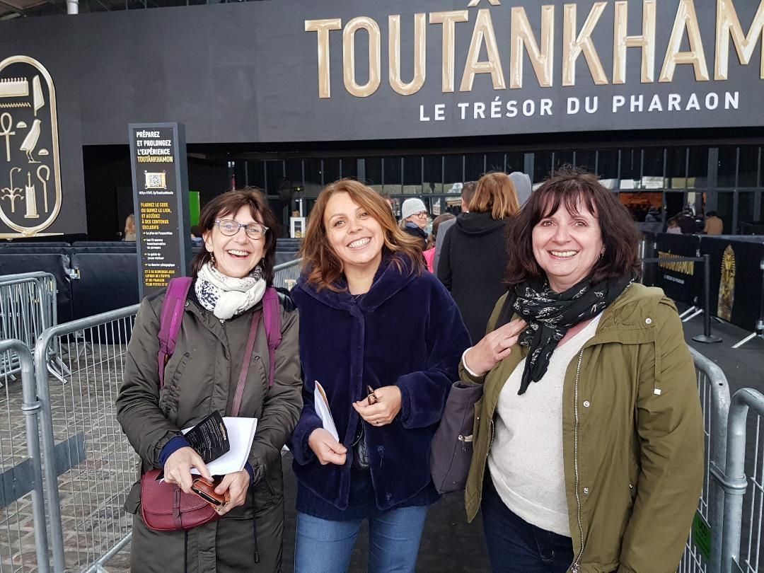 et devant l'expo de Toutankhamon avec Cocofolies et Gisou13