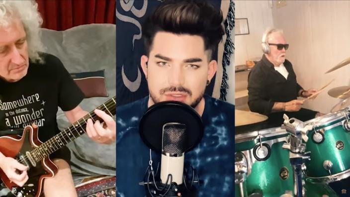 Pour ce nouveau clip, Brian May et Roger Taylor ont chacun enregistré chez eux, à Londres, tandis qu'Adam Lambert a chanté depuis Los Angeles.