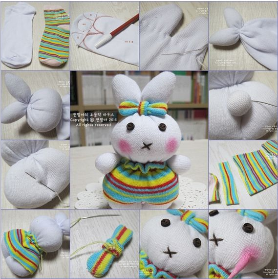 Famous 10 supers petits lapins fait avec des chaussettes - Association  VJ03