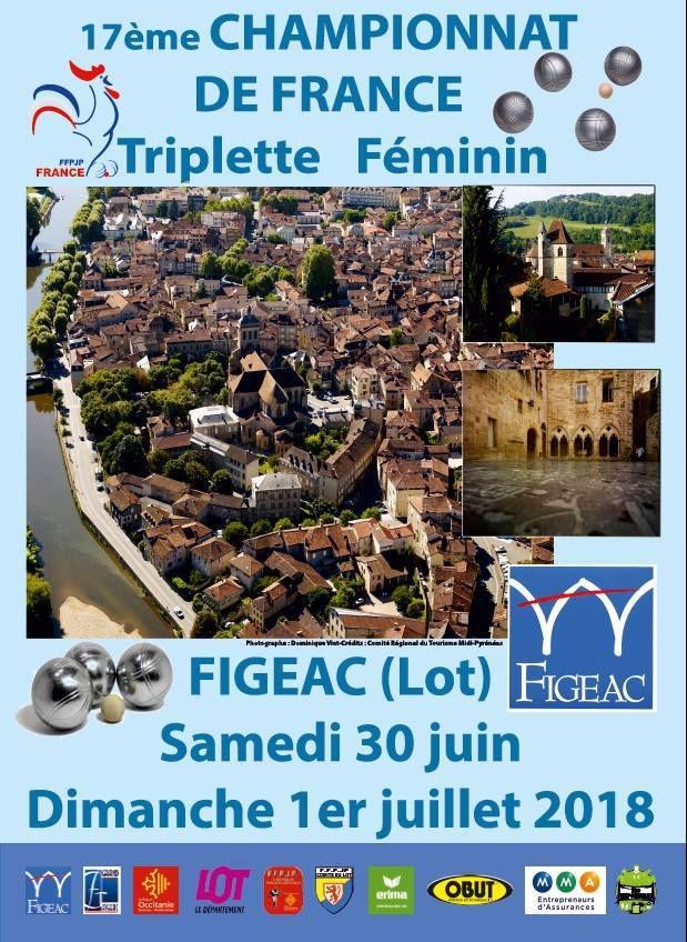 CHAMPIONNATS DE FRANCE TRIPLETTE FEMININ 2018
