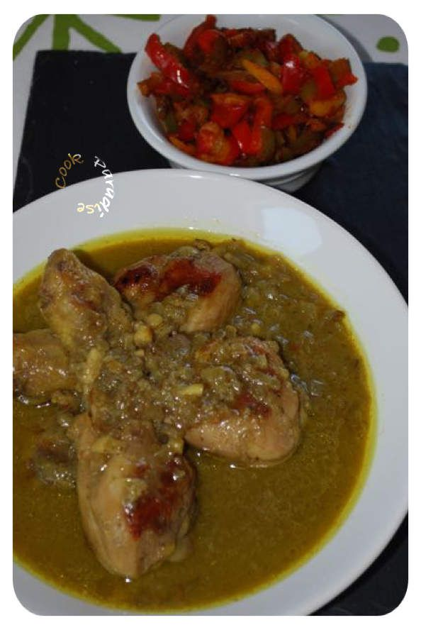 Cake Poulet Curry Coriandre Thermomix