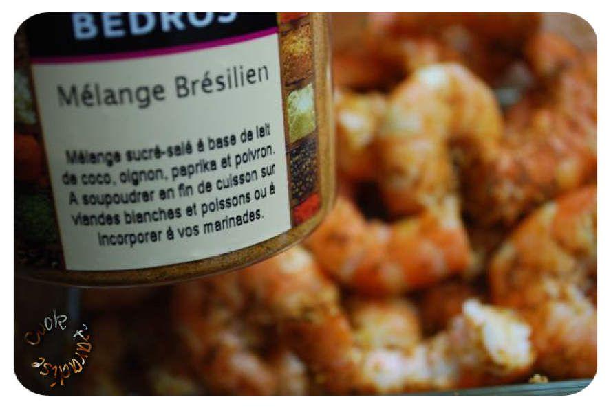 Crevettes épicées et sa fondue de poireaux (COOKÉO)