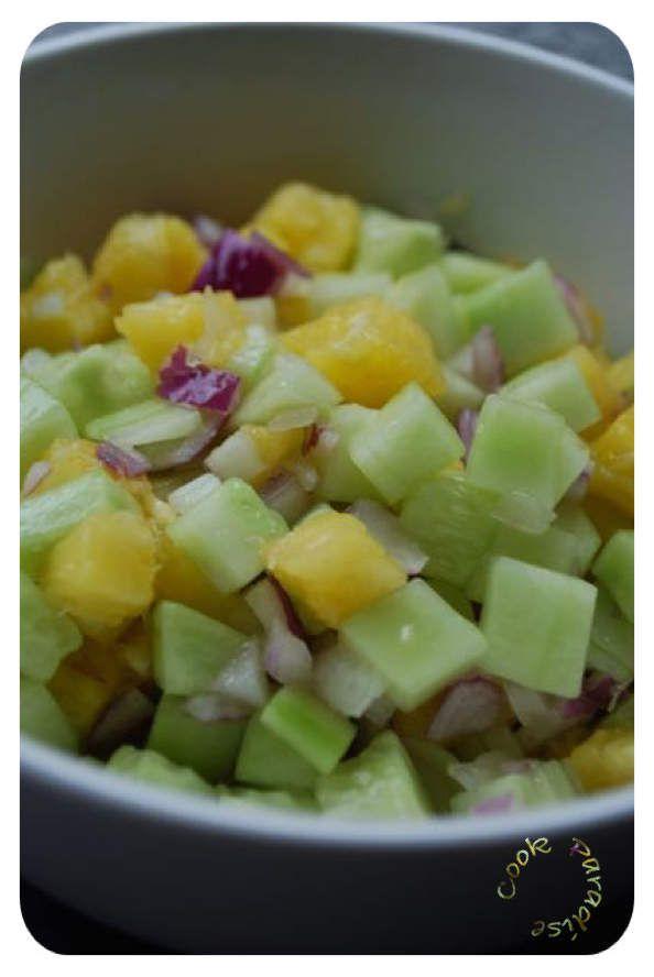 Salade ananas concombre