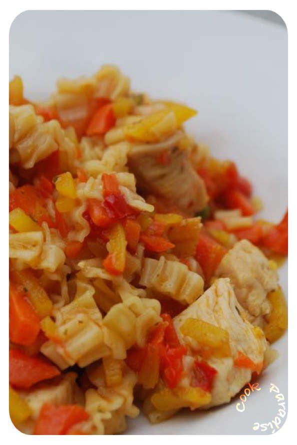 Wok Thaï au poulet ... 5 minutes chrono COOKÉO