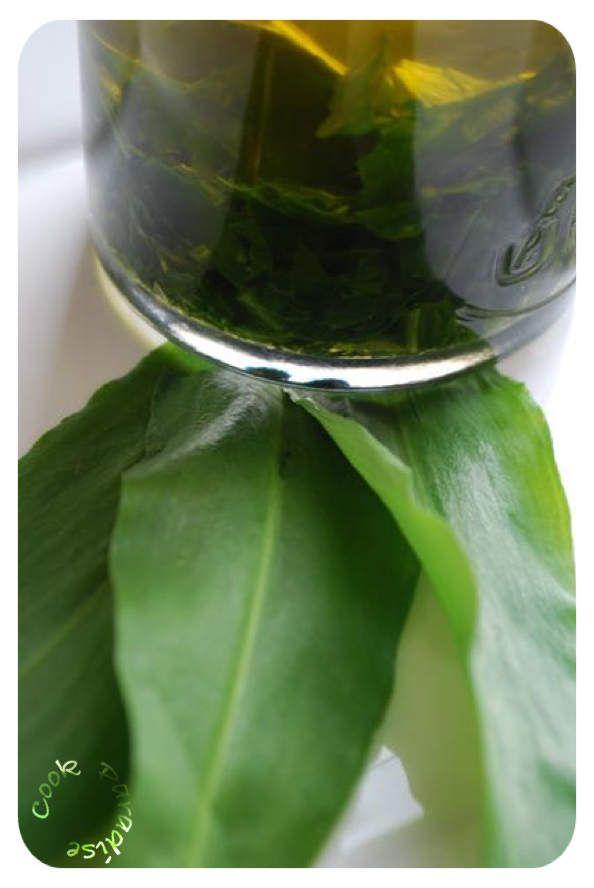 Huile d'olive parfumée à l'ail des ours