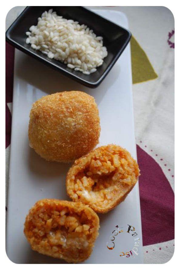 Arancini à la mozzarella (COOKÉO)