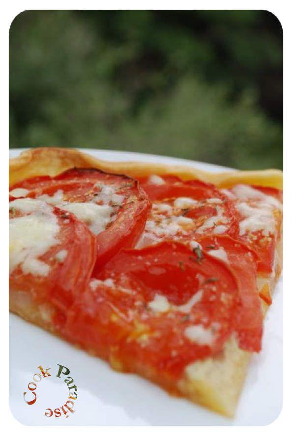 Tarte tomates et oignons