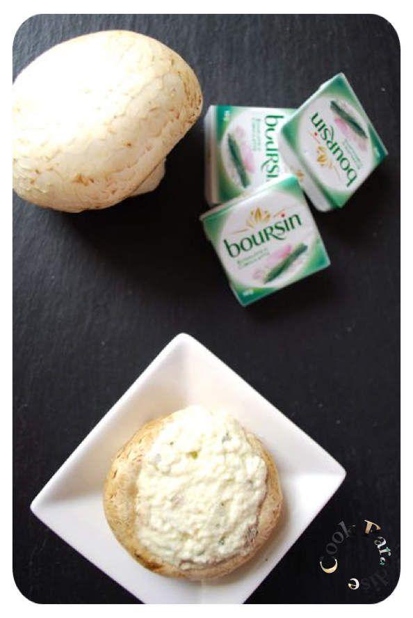 Champignons farcis au fromage frais COOKÉO
