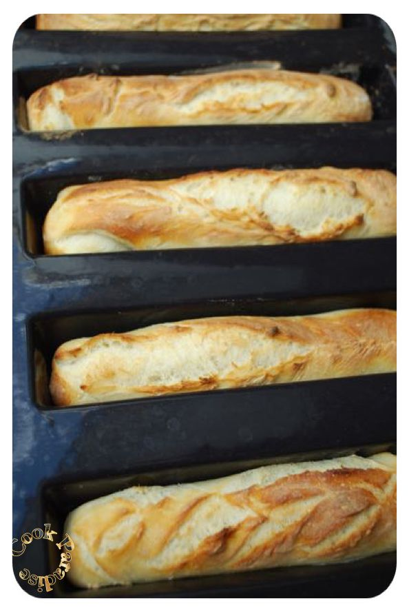 Mini-baguettes moule 5 cakes longs Guy DEMARLE & Thermomix