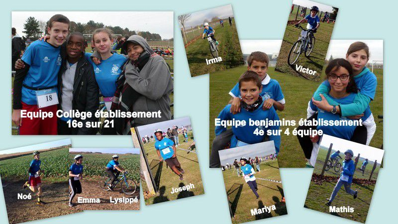 Résultats du championnat de Duathlon et Run and bike - Mercredi 14 Novembre