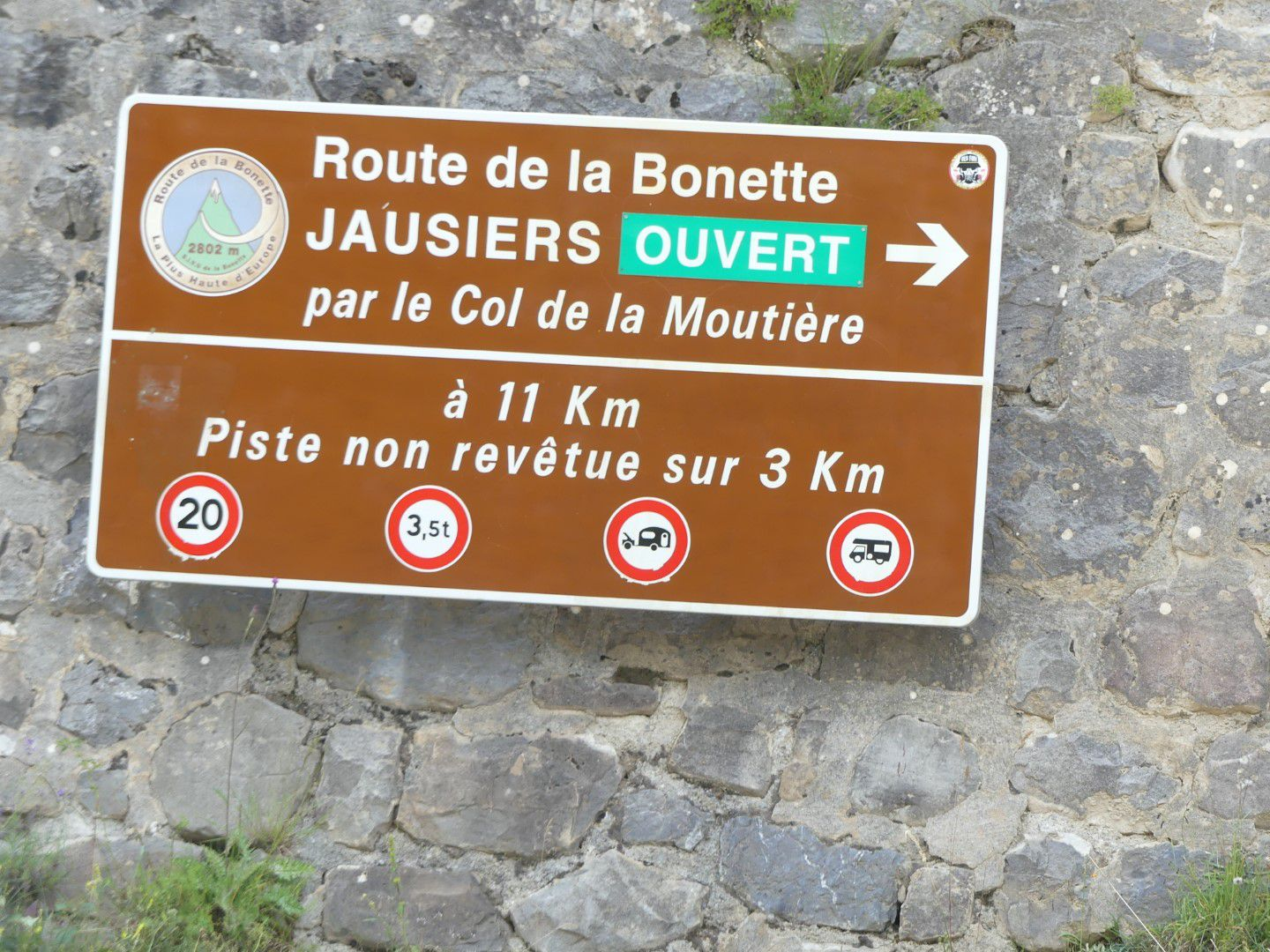 Route du col de la Moutière, Alpes maritimes, France