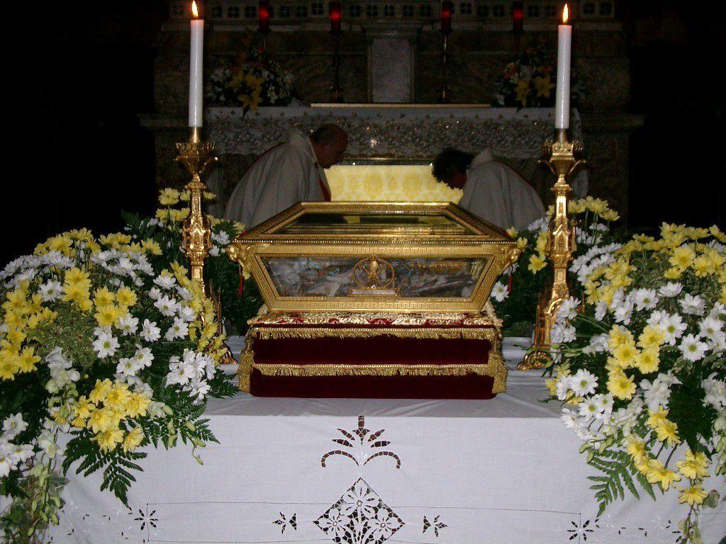 Reliques de saint Augustin conservées dans l'Arche funéraire