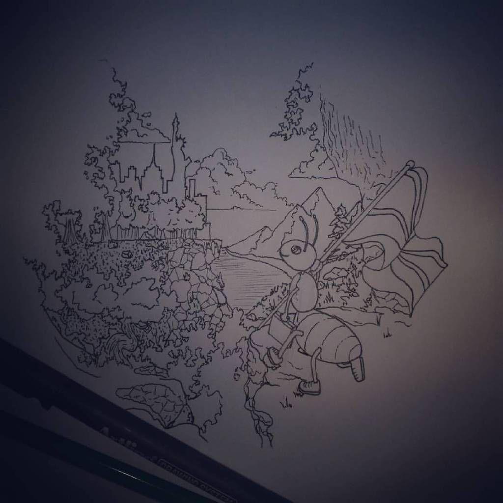 sketchs pour illustrations ou fresques murales