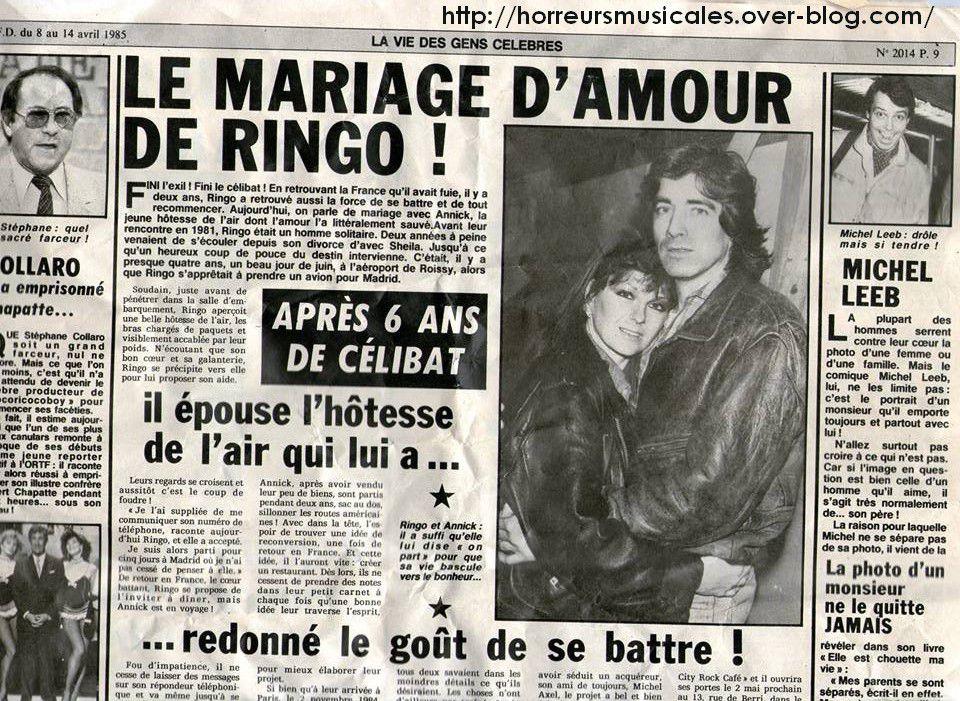 COLLECTOR : L'AUTRE MARIAGE DE RINGO