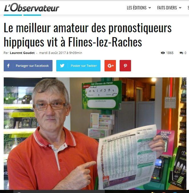 MON CLASSEMENT JOURNALIER AU CHAMPIONNAT DE FRANCE DES PRONOSTIQUEURS