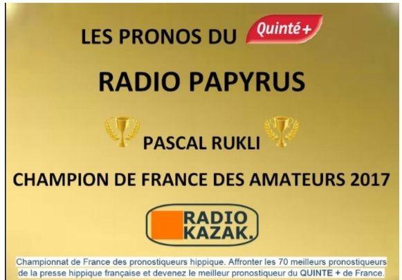 MON CLASSEMENT JOURNALIER AU CHAMPIONNAT DE FRANCE