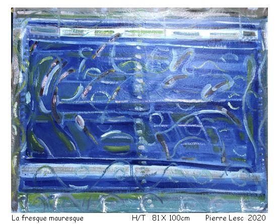 Fresque mauresque   H/T  81 X 100 cm