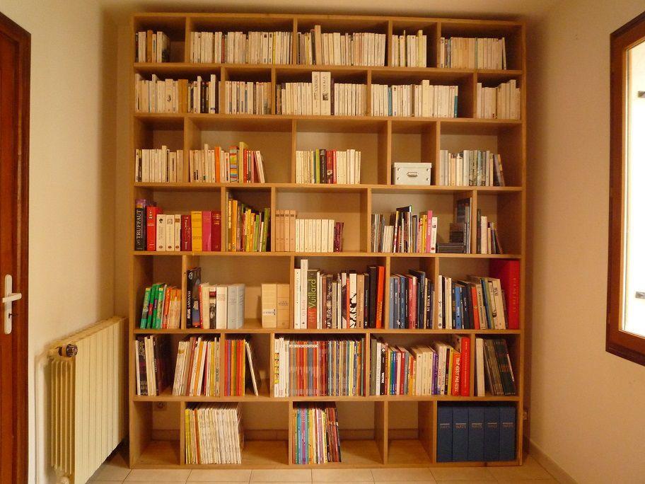Bibliothèque BricK chêne massif pour Marseille