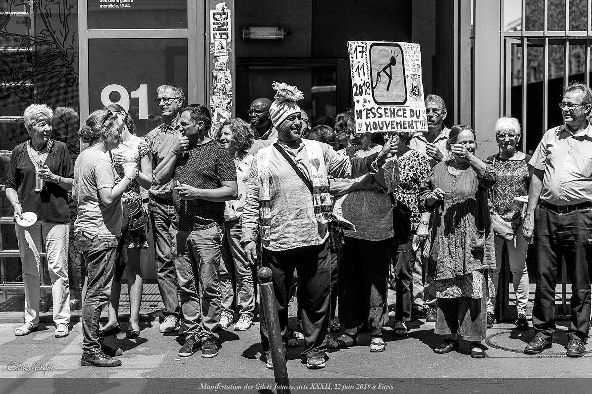 Paris, manifestation du 22 juin 2019 des gilets jaunes, Acte XXXII