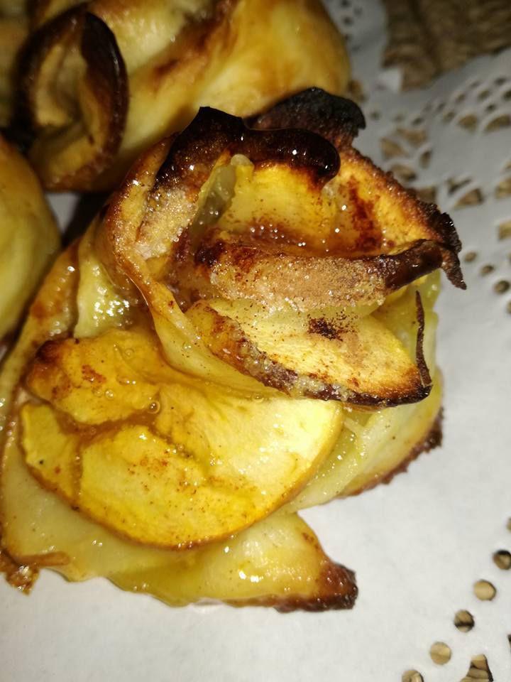rose sucrées pomme cannelle