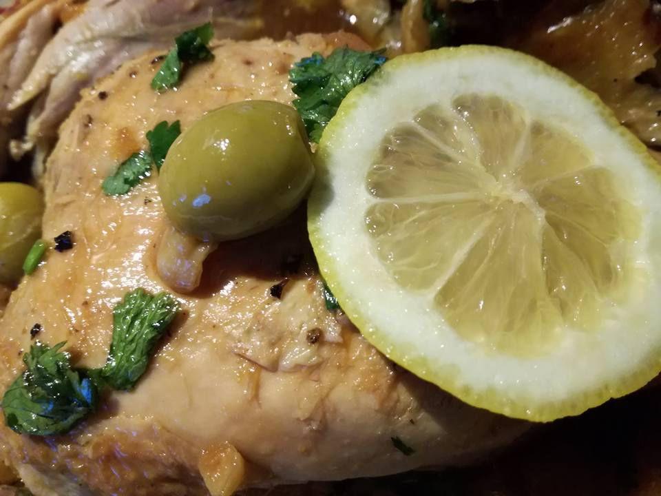 poulet au citron et olives