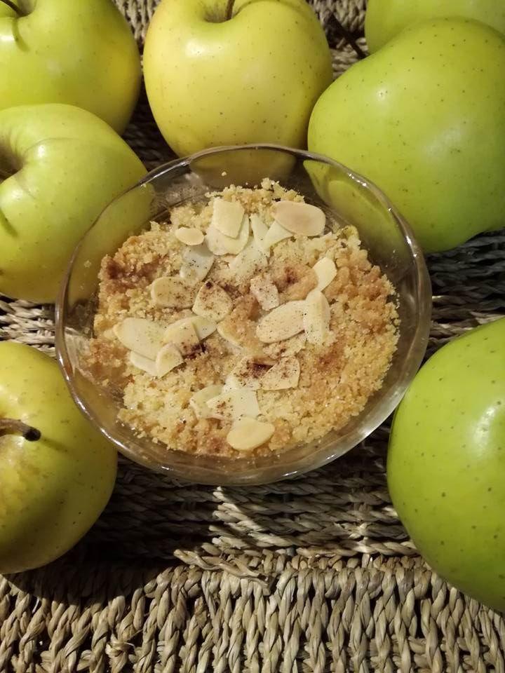 crumble aux pommes  de pauline ou gateau suedois