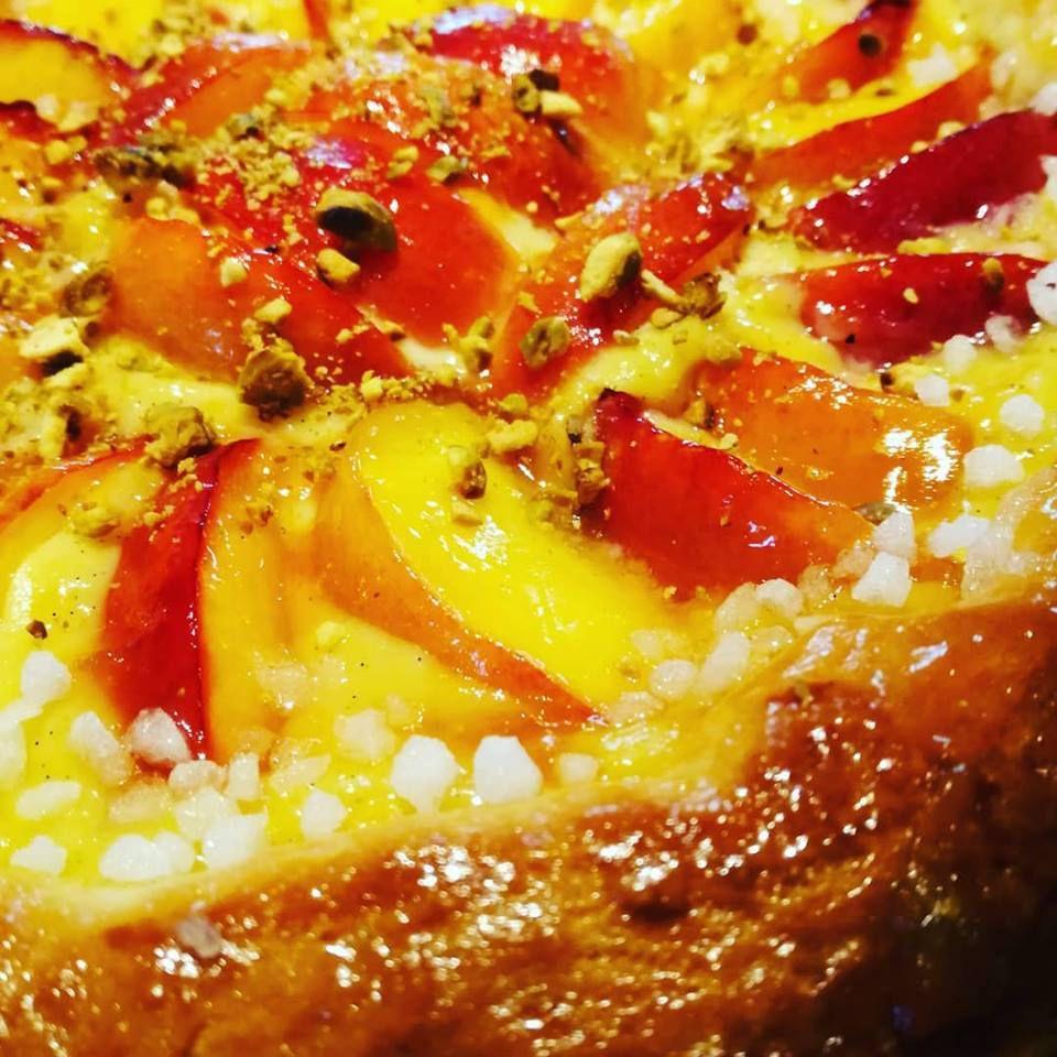 tarte briochée aux nectarines de thierry nicolas