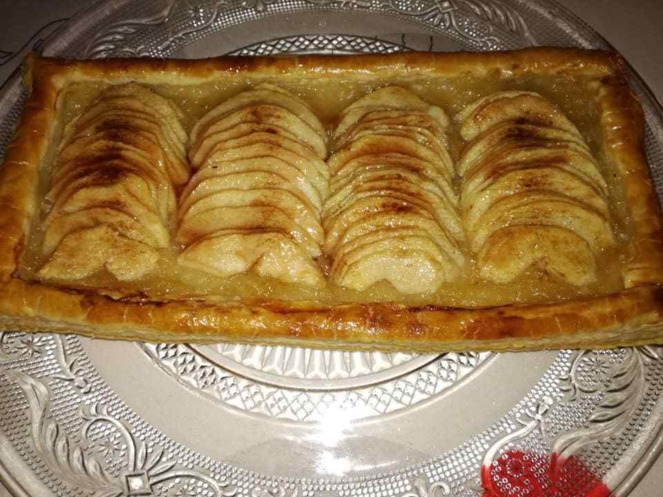 tarte en bande  aux pommes